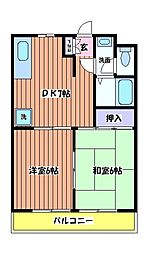 浅間ハイツ[2階]の間取り