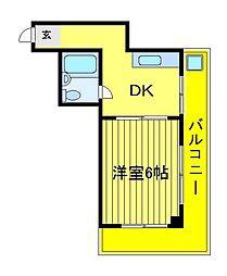クレスト六高台[402号室]の間取り
