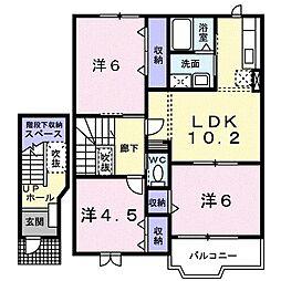 コーポ五反田[0202号室]の間取り