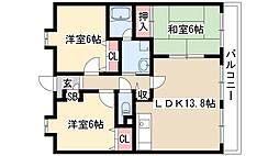 グリーンヒルズ神ノ倉[2階]の間取り