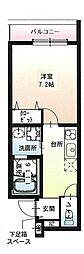 フジパレス尼崎ガーデン2 2階1Kの間取り