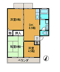 サンライフ3[2階]の間取り