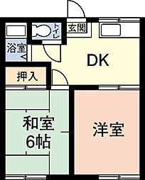 ハイツ若宮[2階]の間取り
