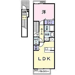 カームガーデン A[2階]の間取り