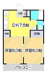 第2ホワイトハイツ[3階]の間取り