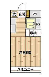 プランタン和泉[202号室]の間取り