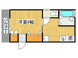 兵庫県神戸市垂水区西舞子1丁目の賃貸アパートの間取り