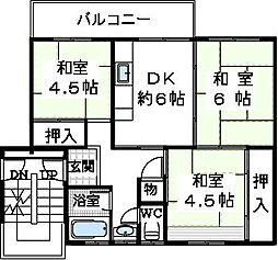 狭山住宅12棟[501号室]の間取り