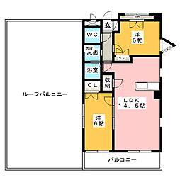 Benvenuto下稲[3階]の間取り