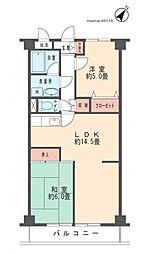ローズ宮崎台[203号室]の間取り