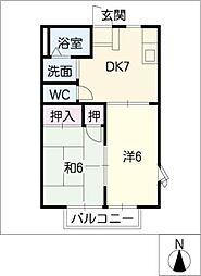 MAPLETOWN PINO  B棟[2階]の間取り