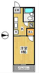 神奈川県横浜市戸塚区上倉田町の賃貸アパートの間取り