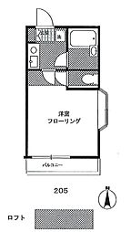 リビエール生田[2階]の間取り