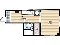 辻本ハウス[3階]の間取り