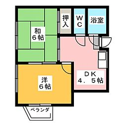 愛知県名古屋市港区土古町4丁目の賃貸マンションの間取り