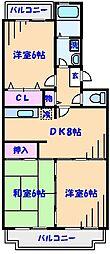 ガーデンタウンフジ[3階]の間取り