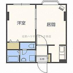 ヴァンヴェール札幌[4階]の間取り