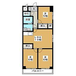 マンション森[4階]の間取り