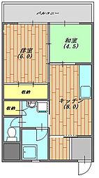 アサヒレンガハイツ 304号室[304号室号室]の間取り