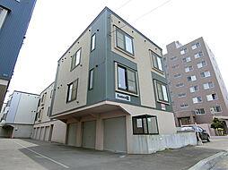 北海道札幌市厚別区厚別中央五条6丁目の賃貸アパートの外観