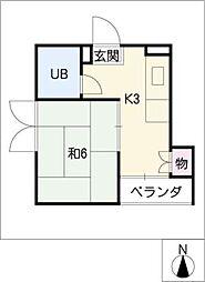 第2樋ノ口ハイツ[3階]の間取り