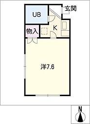 シーエル東山[2階]の間取り