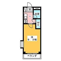 アーク岩塚[4階]の間取り