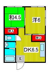 フィールドマンションわらび[3階]の間取り