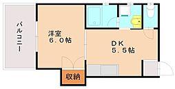 美芳ビル[3階]の間取り