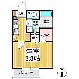 (仮)三輪シャーメゾン[2階]の間取り
