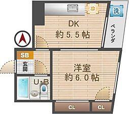 東京都杉並区松ノ木2丁目の賃貸マンションの間取り