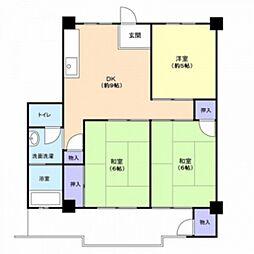 日吉コーポ[3階]の間取り