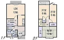 [テラスハウス] 青森県八戸市売市1丁目 の賃貸【/】の間取り