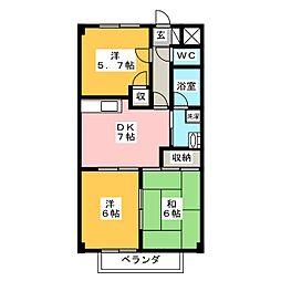 サープラスIII 都築[2階]の間取り