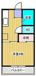 サンハイツ新松戸[B103号室]の間取り