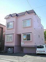 北海道札幌市豊平区平岸二条2丁目の賃貸アパートの外観
