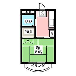 メゾン三緑[2階]の間取り