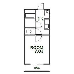 タイムマンション[3階]の間取り
