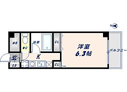 オークハイツ[6階]の間取り