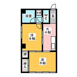 コジマビル[5階]の間取り