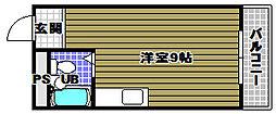 ハイムニシキ[1階]の間取り