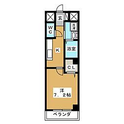 ヌウボー塩小路[4階]の間取り
