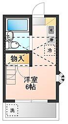 東京都世田谷区北烏山6丁目の賃貸アパートの間取り