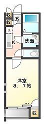 クレイノファミーユ東大宮[2階]の間取り