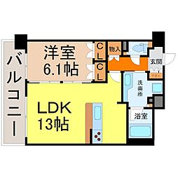グラン・アベニュー名駅(メイエキ)[11階]の間取り