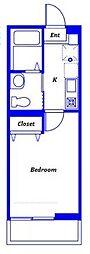 ハーミットクラブハウス大口通(仮称) 1階1Kの間取り