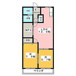 ビューティーハイム138[2階]の間取り