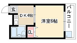 愛知県名古屋市天白区焼山1丁目の賃貸マンションの間取り
