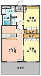岡山県倉敷市新倉敷駅前5丁目の賃貸マンションの間取り