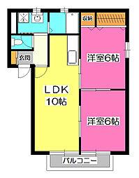 メゾン・アオキ[1階]の間取り
